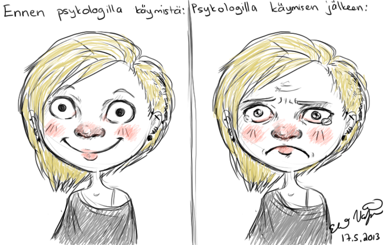 Psykologilla käyminen